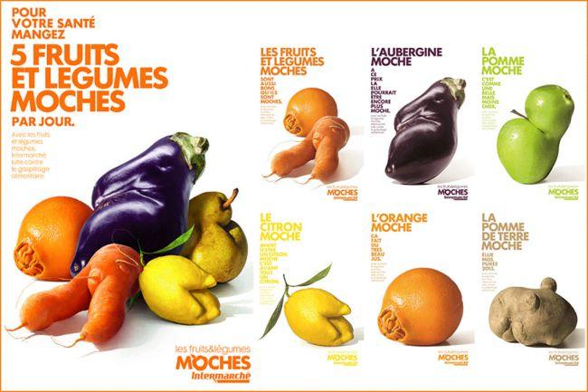 کمپین «Inglorious Fruit and Veg» برای سوپرمارکت «Intermarché»