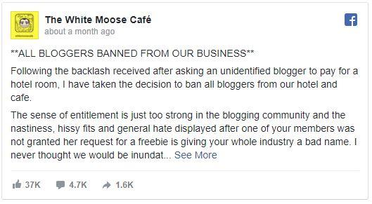 ورود اینفلوئنسرها به White Moose Cofe ممنوع شد